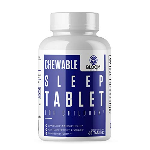 Chewable Sleep Aid Tablets - Natural Supplement for Children - Helps Fall Asleep Faster and Stay Sleeping Longer - 60 Tablets