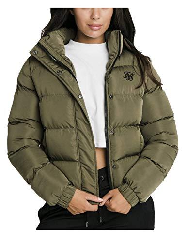 Sik Silk - Chaqueta Acolchada Corta SSW-1524 ''Contrast Lining Crop Jacket'' -...
