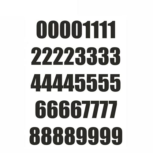 40PCs Number Sheet Sticker Vinyl Decal Car Bike Door Wheelie Bin Race,Mailbox Numbers Sticker for Mailbox,Window, Door, Cars, Trucks, Home, Business, Address Number