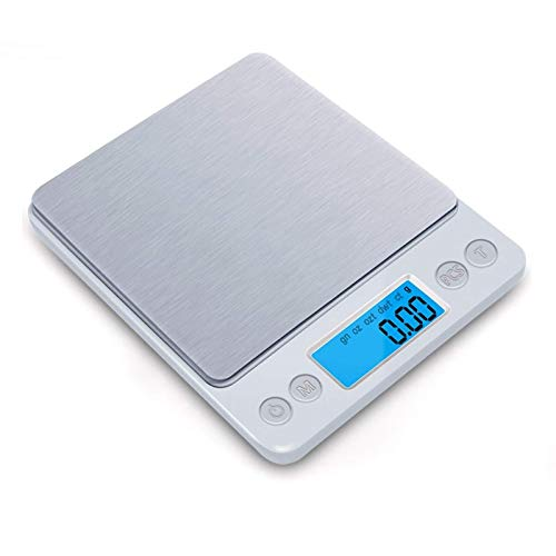 TXXM Escalas Digitales 500 g / 0.01g Escalas de Bolsillo Digital LCD electronicas para la Cocina de la Cocina (batería no incluida)