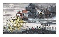 YANGBM 江南春カラー、大人の余暇500/1000/1500/2000/3000ピース木製パズル教育玩具ホリデーギフト中国の装飾ファミリーゲーム絵画 ジグソーパズル (Size : 3000)