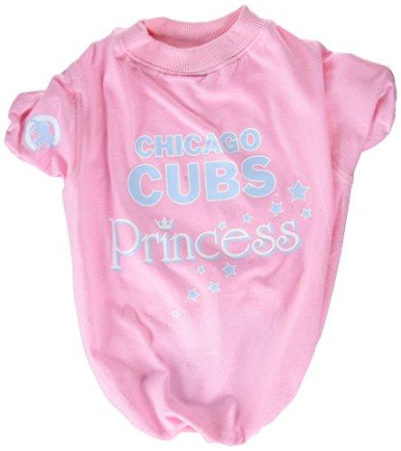 Sporty K9 MLB Chicago Cubs Pink Pet T-shirt, Medium