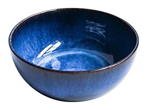 NYKK Bowl9in Fruchtsalat Töpferschale Große Verdickung Keramik Für Restaurant Home Bowl Suppe (blau 2.4l) lalay