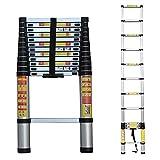 8bayfa Télescopage Ladder 1.4M-6.2M, échelles d'extension en Aluminium for la Maison Toit RV Activités de Plein air, Charge 150 kg / 330lbs (Taille: 1,4 m / 4.59ft) (Size : 2.6m/8.53ft)