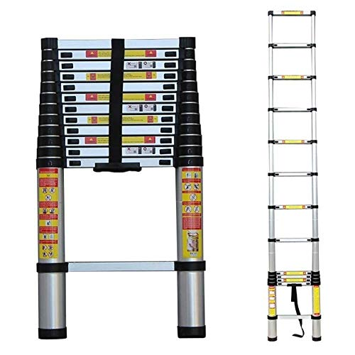 Telescopische Ladder 1.4M-6.2M, Aluminium Uitbreiding Ladders Roof RV outdoor-activiteiten, Load 150kg / 330lbs (Maat: 1,4 m / 4.59ft) 8bayfa (Size : 2.6m/8.53ft)