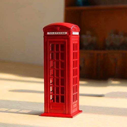 Zenghh British Royal Mail Service Teléfono Teléfono Sartén Depósito Jarra de monedas, Retro Mundo Cultura Símbolo Público Caja de llamadas Teléfono Kiosk Penny Bank, Victoria Street Fancier Souvenir S