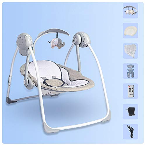 Swing-N-Rocker, New-Born Baby Swing Chair and Bouncer with Songs and Sounds, Suitable from Birth/B