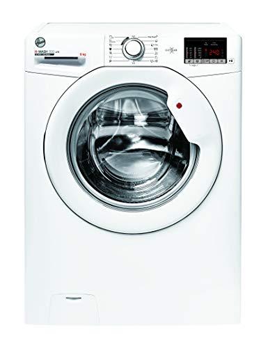 Hoover H-WASH 300 H3W492DE-S Waschmaschine / 9 kg / 1400 U/Min / Smarte Bedienung mit NFC-Technologie / Symbolblende / Spezielle Extra Care-Programme zur Wäschepflege