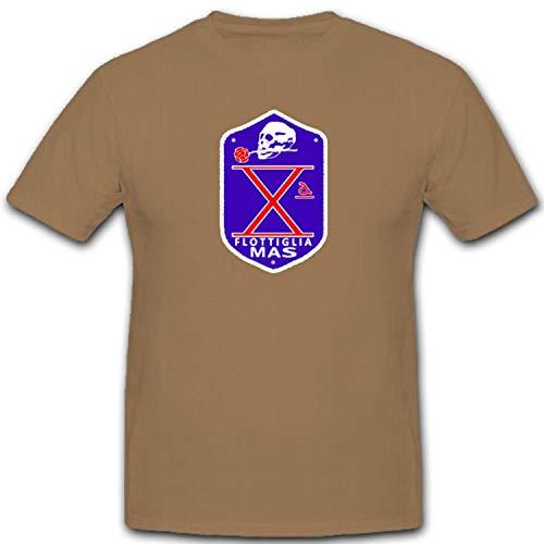 flottiglia mas de Italia Lucha Flotador Especial Unidad Italiano Marino Comando subacquei ED incu rsori comsubin Reutilizable–Camiseta # 7611 Arena X-Large