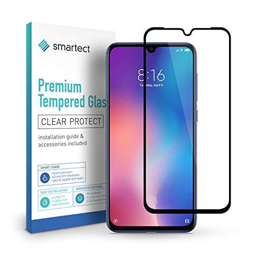 smartect Pellicola Protettiva per Xiaomi Mi 9 [FULL SCREEN] - 9H Vetro Temperato – Design Ultra Sottile – Applicazione Anti-Bolle – Anti-Impronte