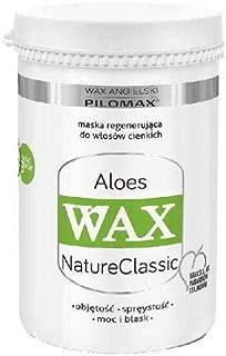 WAX NaturClassic ALOES para cabello fino y fino, extracto de henna y zumo de aloes, 240 gramos
