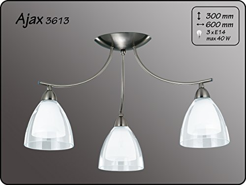 Moderne plafondlamp 3x40W/E14 AJAX 3613 Alfa
