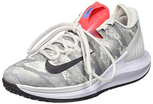 Nike W NIKECOURT Air Zoom Zero HC, Zapatillas para Correr Mujer, Platinum Tint Thunder Grey Laser Crimson Royal Pulse White, 36.5 EU