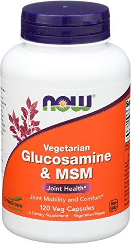 Now Foods Glukozamina MSM Vegetarian, 120 Kapseln