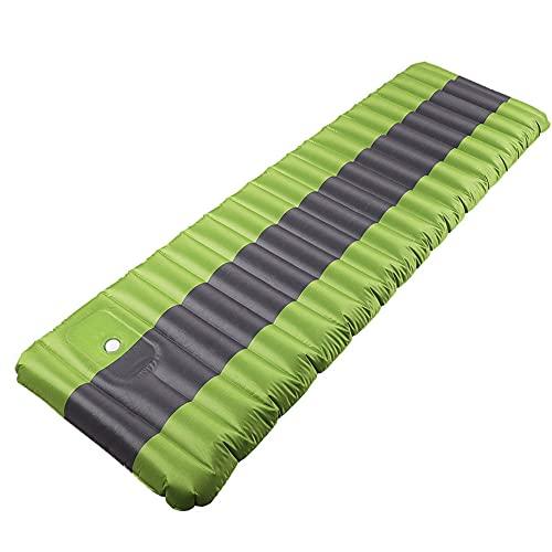 HFDDF Cama de colchón de Coches, tapete Inflable Camping Inflable Al Aire Libre Camping Mat 190 * 60 cm Cama de Camping Viaje Inflable,Verde
