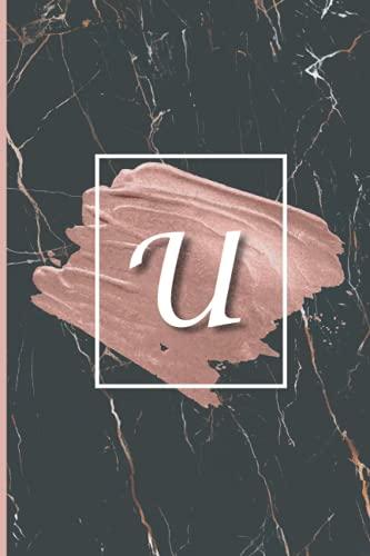 U: Cute Initial Monogram Letter U College Ruled Notebook. Nifty Girly...