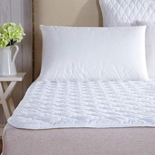 ZXYY dunne matras matrasbeschermer matras topper Twin Full Queen King-White 180x220cm (71x87inch)