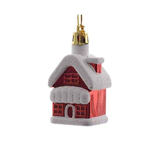 Kaemingk FORMINA Casa nieve roja 7cm