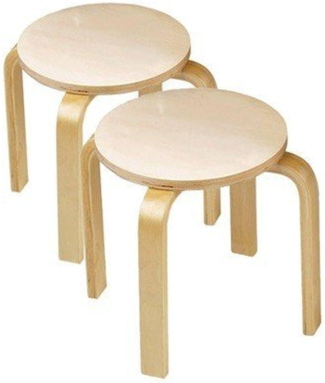 los últimos modelos Wooden Wooden Wooden Sitting Stools (set of 2) by Anatex  ¡No dudes! ¡Compra ahora!