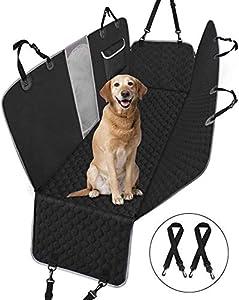 Pet Cubierta Asiento Coche Perro, Alfombra de Asiento Coche Perro de Estilo Hamaca, protector de asiento de coche antideslizante impermeable y lavable, hamaca de viaje para perros para coches, negro