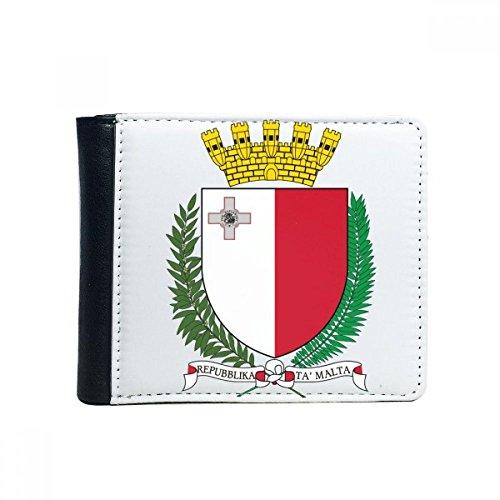 Malta Europa nationaal embleem Flip Bifold Faux lederen portemonnee multifunctionele kaart portemonnee cadeau