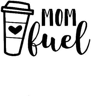 """CCI Lustiger Vinyl Aufkleber mit Aufschrift """"Mom Fuel Coffee"""", für Autos, LKWs, Lieferwagen, Wände, Laptops, 19,1 x 12,1 cm, CCI1779"""