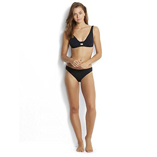 Seafolly Damen Active Hipster Bikinihose, Schwarz (Black), 34 (Herstellergröße: 8)