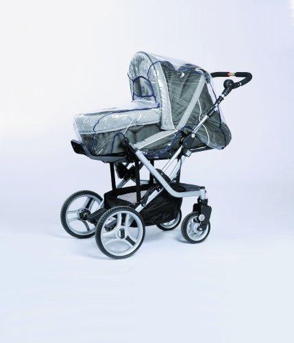 Harmatex 8007 00 - Regenhaube für Kinderwagen mit Schwenkschieber,PVC - Folie