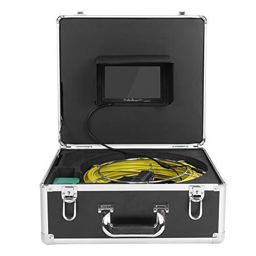 ASHATA, waterdichte endoscoopcamera, 7 inch LCD-monitor, 17 mm buisinspectie, HD 1000TVL camera, inspectiecamera, video 30 m kabel, afvoerbuis, kanaalinspectiesysteem met koffer, EU-stekker