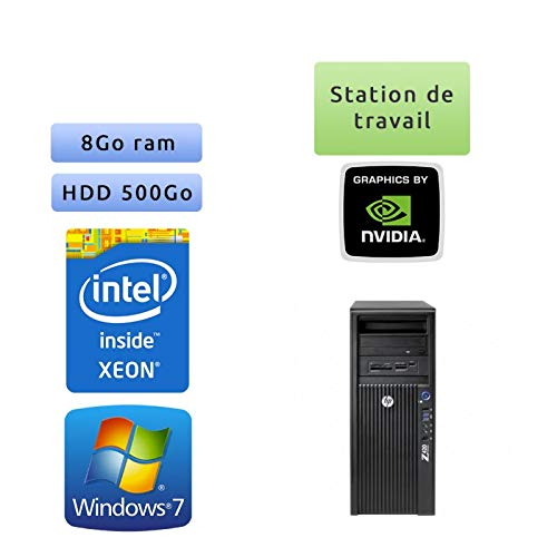 HP Workstation Z420 – Windows 7 – E5-1650 8 GB 500 GB – Quadro 2000 – Ordenador Torre Workstation PC
