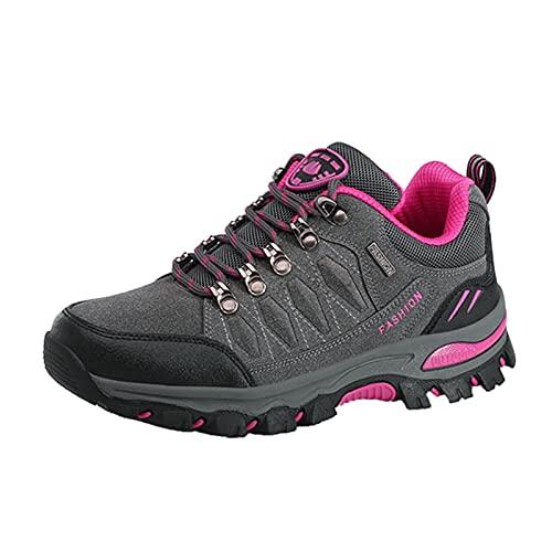 Outdoorschuhe Damen Stilvoller Anti-Rutsch Wasserabweisend Wanderstiefel Gedämpfter Sport Hiking Walkingschuhe Reisen Täglichen Gebrauch Bergschuhe Bequem Leicht Schuhe