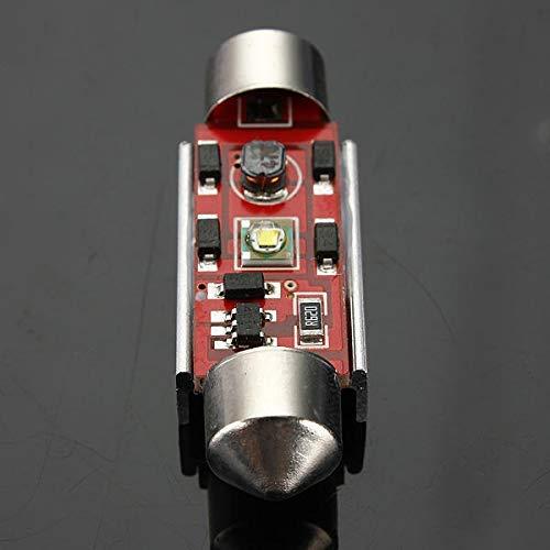 DressU Alto Brillo 12V LED CANBUS Número de Licencia detectado Xenon White Bulbs Bulbs Festono Alto Rendimiento