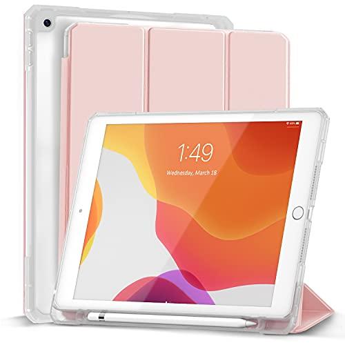 Gahwa Funda para iPad 10.2 Pulgadas 8 Generación 2020 iPad 7 Generación 2019, Case Slim Carcasa Smart Cover con Función Soporte Auto-Sueño Estela, Carcasa con Soporte Integrado para Pencil - Rosa