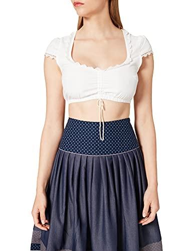 Stockerpoint Damen Dirndlbluse B-1040 Kleid für besondere Anlässe, Creme, 36