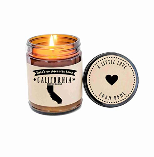 California Candle Scented Candle State Candle Gift No Place Like Home Thinking of You Holiday Gift Christmas Gift