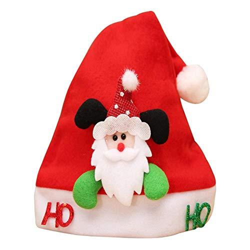 QWERGLL Divertenti Cappelli A Forma Di Pupazzo Di Neve Di Babbo Natale Cappelli Di Natale A Più Disegni Bambini Adulti Per La Decorazione Del Negozio Di Casa Di Festa Di Natale