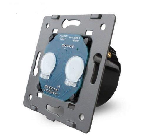 LIVOLO Glas Touch Lichtschalter Funkschalter Steckdosen Wechselschalter uvm in gold (Modul: Serienschalter VL-C702)