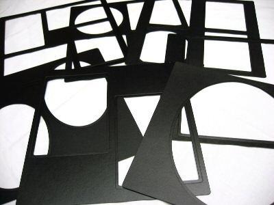 Professional 10x10 ALL BLACK Square Cameo Window Wedding Photo Album with 20 Mats