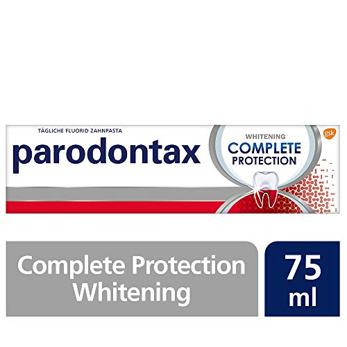 Parodontax Complete Protection Zahnpasta mit Fluorid, 1x75ml, hilft Zahnfleischbluten zu reduzieren und vorzubeugen