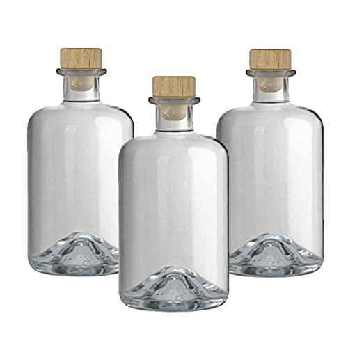 3 Apothekerflasche 500ml leer Glas Apotheker Flaschen Essigflaschen Ölflaschen Schnapsflaschen Likörflaschen zum selbst befüllen Apothekerflaschen VERSAND INNERHALB 24 STD!