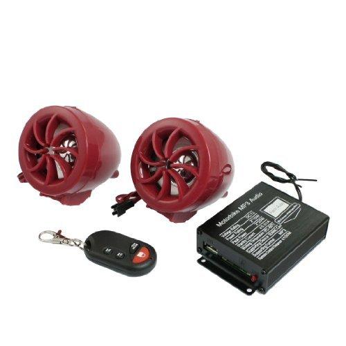 DealMux Plastic ATV Sound System Monte Motocicleta MP3 amplificador de áudio Alto-falantes...