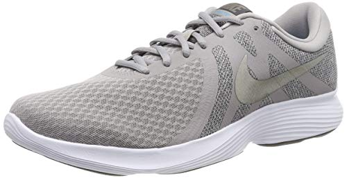 Nike Revolution 4 EU, Zapatillas de Running Hombre, Atmosphere Grey/MTLC Pewter-Thunder Grey-LT Current Blue-White, 41