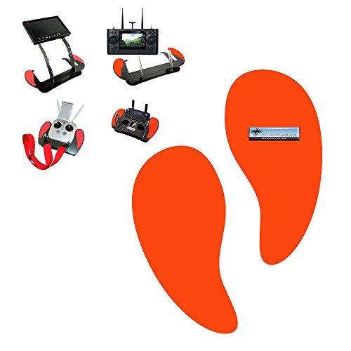 AHLtec Handauflagen für Senderpulte - zum Beispiel für Yuneec oder DJI Mavic Senderpult - Farbe rot Profi Zubehör