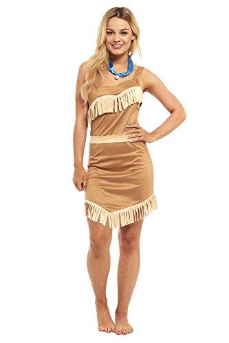 unbranded Damen Sexy Pocahontas Indian Princess Halloween Kostüm - Alle Größen