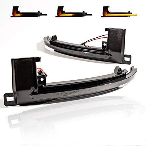 2 X LED Blinker Spiegelblinker Blinkleuchte Dynamische Laufblinker bewegliche LED Streifen mit Zulassung V-170807