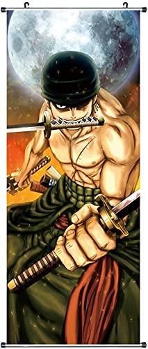 CosplayStudio Großes One Piece Rollbild/Kakemono aus Stoff | Poster 100x40cm | Motiv: Lorenor Zorro