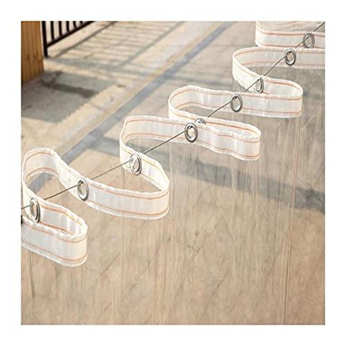 GGYMEI Lonas Impermeables Exterior, Transparente con Arandela Espesar Fácil De Doblar Mantener Caliente Refuerzo De Cincha Cubierta para Muebles De Patio, Personalizable