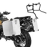 Maletas Laterales ALU para Yamaha MT-07 Tracer 700 16-17 Namib 35-40l + Soporte