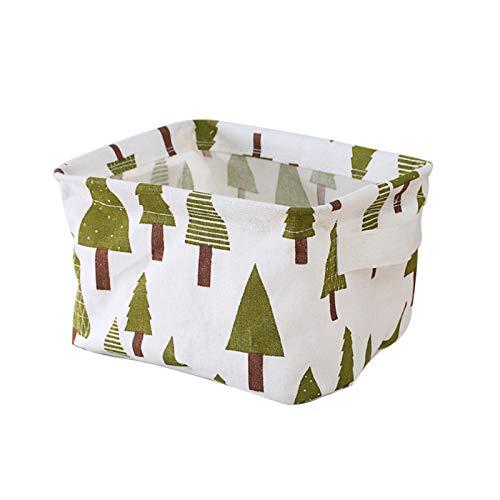 Zrose Wäschekorb Kleines Baummuster Wäschekorb Spielzeug Aufbewahrungsbox Faltbarer Aufbewahrungskorb für Kleidungsstücke 14 * 16 * 20.5CM
