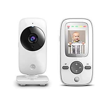 Motorola MBP481 2.4 GHz Digital Video Baby Monitor with 2-Inch Color Display Digital Zoom and Infrared Night Vision